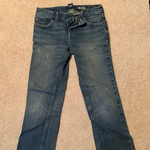 Girls' Ralph Lauren Denim Flare Leg Pants
